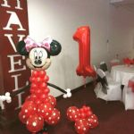 Minnie Mouse Balloon Model & Supershape Number Balloon